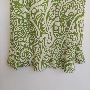 Ann Taylor Dresses - Ann Taylor Silk Green and Cream Floral Dress